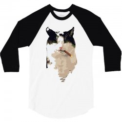 cat1 3/4 Sleeve Shirt   Artistshot