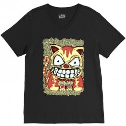 cats and son V-Neck Tee   Artistshot