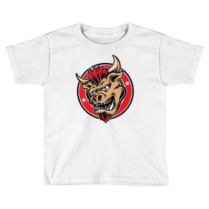 Bull Head 2 Toddler T-shirt Designed By Tariart