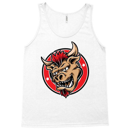 Bull Head 2 Tank Top Designed By Tariart