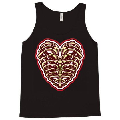 Bone Heart Tank Top Designed By Tariart