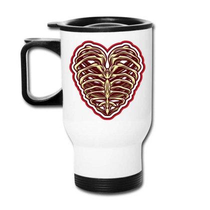 Bone Heart Travel Mug Designed By Tariart