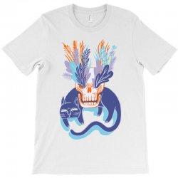 cat skull garden blue T-Shirt   Artistshot