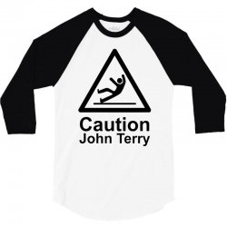 caution john terry 3/4 Sleeve Shirt | Artistshot