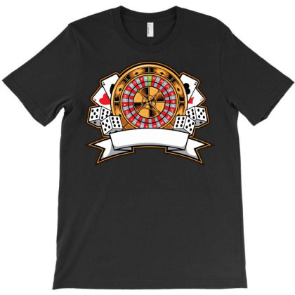 Casino Card T-shirt Designed By Tariart