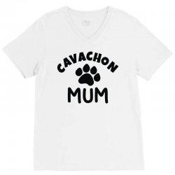 cavachon mum V-Neck Tee   Artistshot