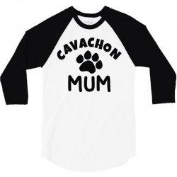cavachon mum 3/4 Sleeve Shirt   Artistshot