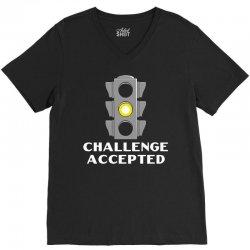 challenge accepted stoplight V-Neck Tee   Artistshot