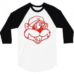chappie the chipmunkjaune 3/4 Sleeve Shirt | Artistshot