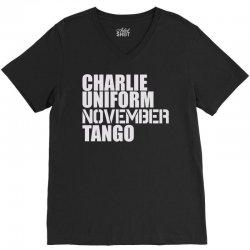 charlie uniform V-Neck Tee | Artistshot