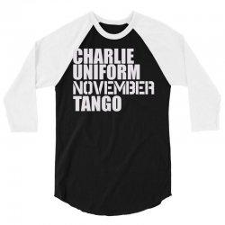 charlie uniform 3/4 Sleeve Shirt | Artistshot