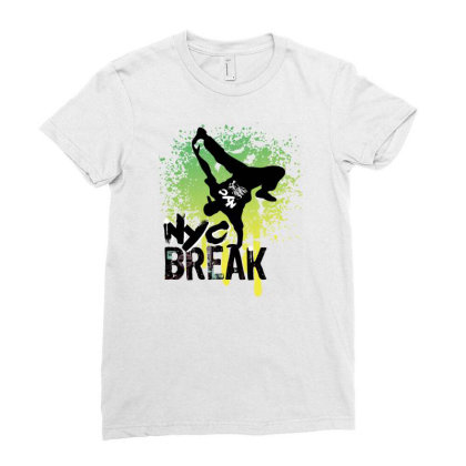 Break Dance Ladies Fitted T-shirt Designed By Coşkun