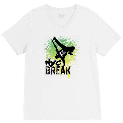 Break Dance V-neck Tee Designed By Coşkun