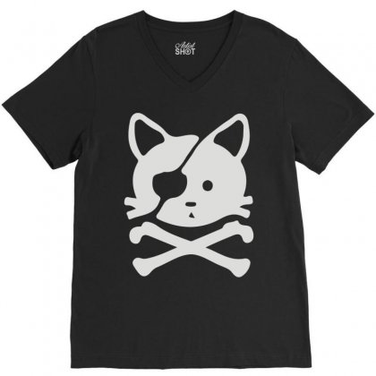 Chat Pirate V-neck Tee Designed By Monstore