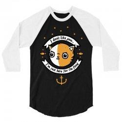 chat profiteur 3/4 Sleeve Shirt | Artistshot
