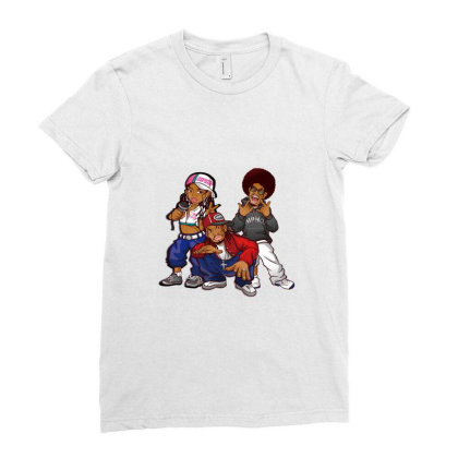 Rapper Black Boys Ladies Fitted T-shirt Designed By Coşkun