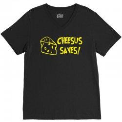 cheese christmas V-Neck Tee | Artistshot