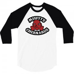 chernarus misfits blanc 3/4 Sleeve Shirt   Artistshot