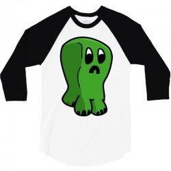 chibi creeper 3/4 Sleeve Shirt   Artistshot