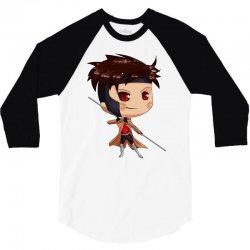 chibi gambit 3/4 Sleeve Shirt | Artistshot