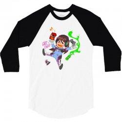 chibi gamer d 3/4 Sleeve Shirt | Artistshot