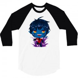 chibi nightcrawler 3/4 Sleeve Shirt   Artistshot