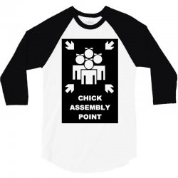 chick assembly point 3/4 Sleeve Shirt | Artistshot