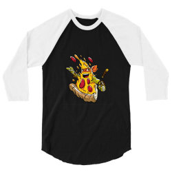 funny pizza slice 3/4 Sleeve Shirt | Artistshot