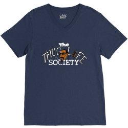 funny the thiug life society V-Neck Tee   Artistshot