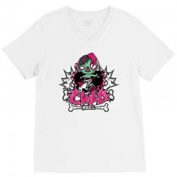 child punk zombie V-Neck Tee | Artistshot