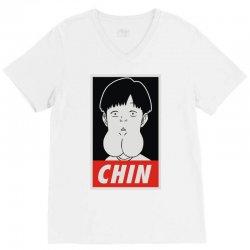 chin boy V-Neck Tee | Artistshot