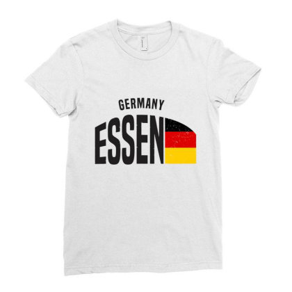 Essen In Germany Ladies Fitted T-shirt Designed By Chris Ceconello