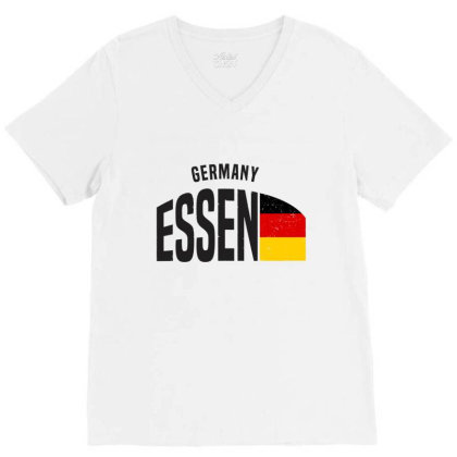 Essen In Germany V-neck Tee Designed By Chris Ceconello
