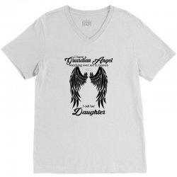 guardian angel daughter V-Neck Tee   Artistshot