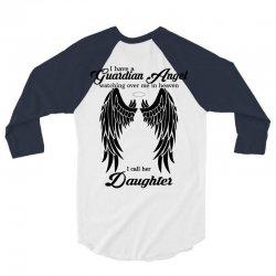 guardian angel daughter 3/4 Sleeve Shirt   Artistshot