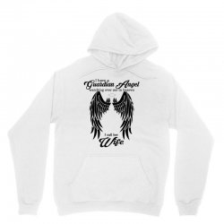 i have a guardian angel in heaven i call her wife Unisex Hoodie | Artistshot