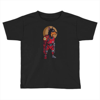 Cyborg Dog Toddler T-shirt Designed By Tariart