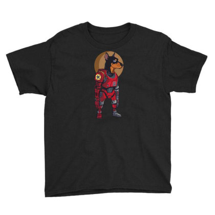 Cyborg Dog Youth Tee Designed By Tariart