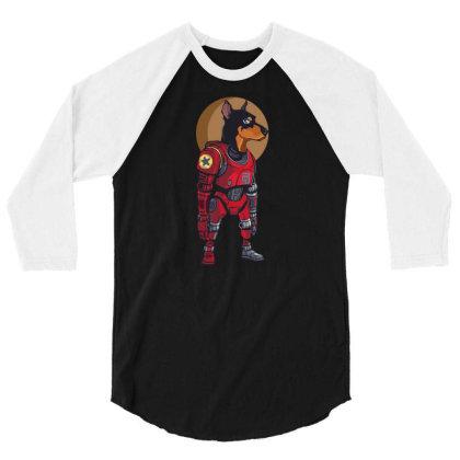 Cyborg Dog 3/4 Sleeve Shirt Designed By Tariart
