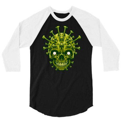 Dangerous Virus 3/4 Sleeve Shirt Designed By Tariart