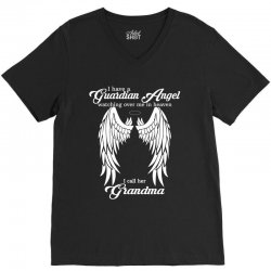 i have a guardian angel in heaven i call her grandma V-Neck Tee | Artistshot