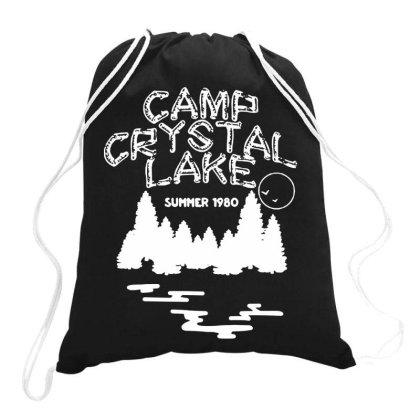 Camp Crystal Lake Drawstring Bags Designed By Onju12gress
