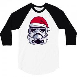 christmas stormtrooper minimalist 3/4 Sleeve Shirt | Artistshot