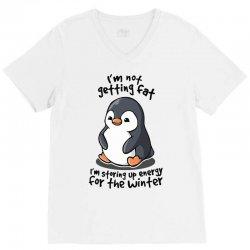 chubby penguin V-Neck Tee   Artistshot
