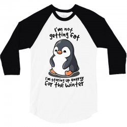 chubby penguin 3/4 Sleeve Shirt   Artistshot