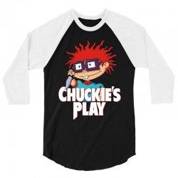 chuckie's play 3/4 Sleeve Shirt   Artistshot