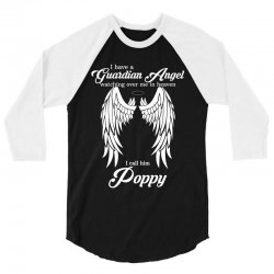 i have a guardian angel in heaven i call her poppy 3/4 Sleeve Shirt | Artistshot