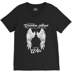 i have a guardian angel in heaven i call her wife V-Neck Tee | Artistshot