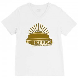 church V-Neck Tee | Artistshot