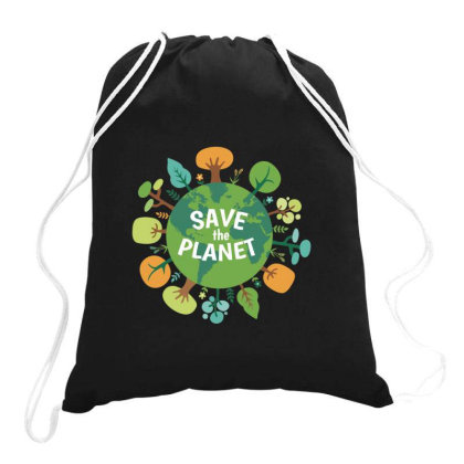 Save The Planet Drawstring Bags Designed By Coşkun